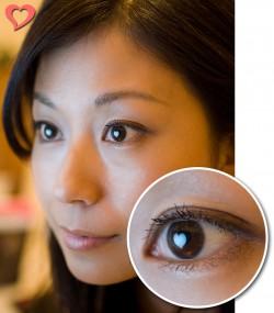 【モテ写】 ハートの入った瞳の写真を、好きな人にメールしてみたらどうかしら(笑)