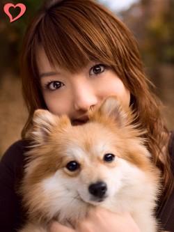 【モテ写】 愛犬の目と自分の目。4つの目が写真を面白くしています。